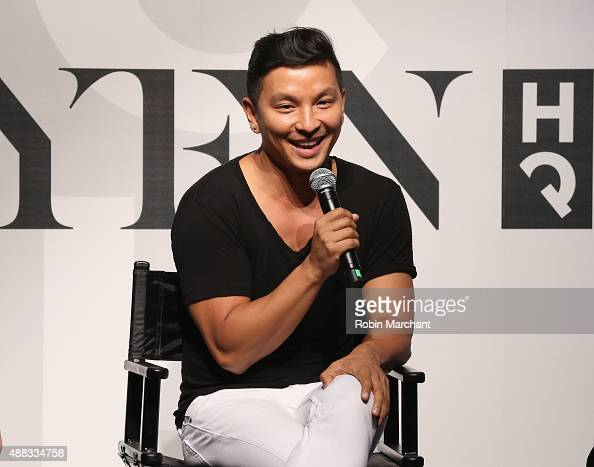 Fashion designer Prabal Gurung speaks on stage during Spring 2016 New York Fashion Week The Shows Day 6 at NYFW The Shows HQ on September 15 2015 in...