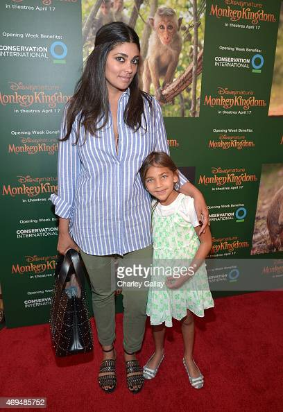 Fashion designer Rachel Roy and daughter Tallulah Dash attend the world premiere Of Disney's 'Monkey Kingdom' at Pacific Theatres at The Grove on...
