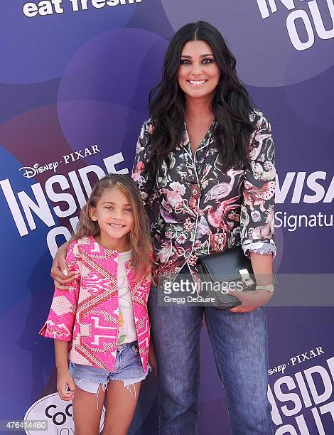 Fashion designer Rachel Roy and daughter Tallulah Ruth Dash arrive at the Los Angeles premiere of Disney/Pixar's 'Inside Out' at the El Capitan...