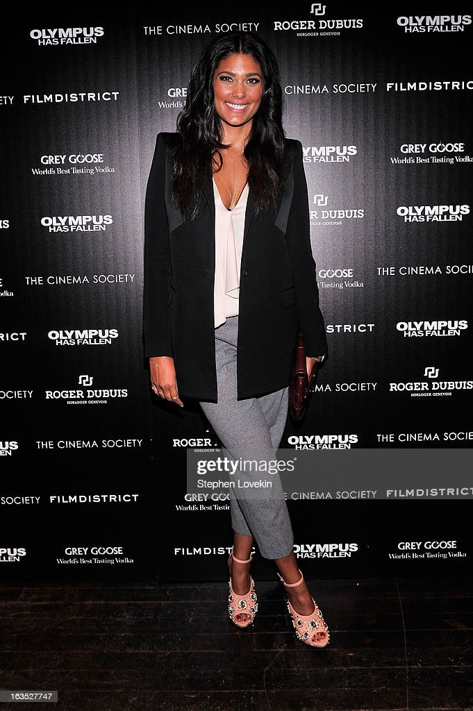 Fashion designer Rachel Roy attends The Cinema Society with Roger Dubuis and Grey Goose screening of FilmDistrict's 'Olympus Has Fallen' at Tribeca Grand Hotel on March 11, 2013 in New York City.