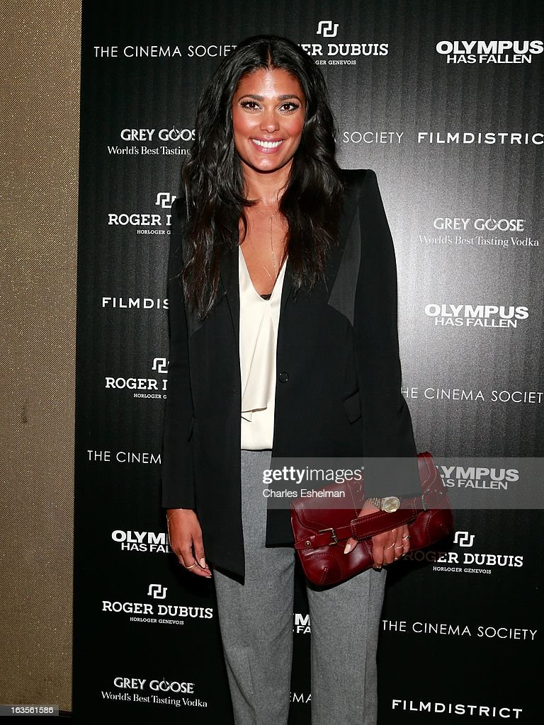 Fashion designer Rachel Roy attends The Cinema Society with Roger Dubuis and Grey Goose screening of FilmDistrict's 'Olympus Has Fallen' at the Tribeca Grand Screening Room on March 11, 2013 in New York City.