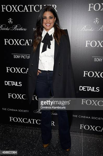 Fashion designer Rachel Roy attends the Details Brooks Brothers Patron with The Cinema Society screening of Sony Pictures Classics' 'Foxcatcher' on...