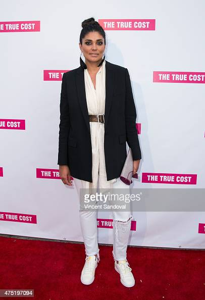 Fashion Designer Rachel Roy attends the Los Angeles premiere of 'The True Cost' at Laemmle's Music Hall 3 on May 29 2015 in Beverly Hills California