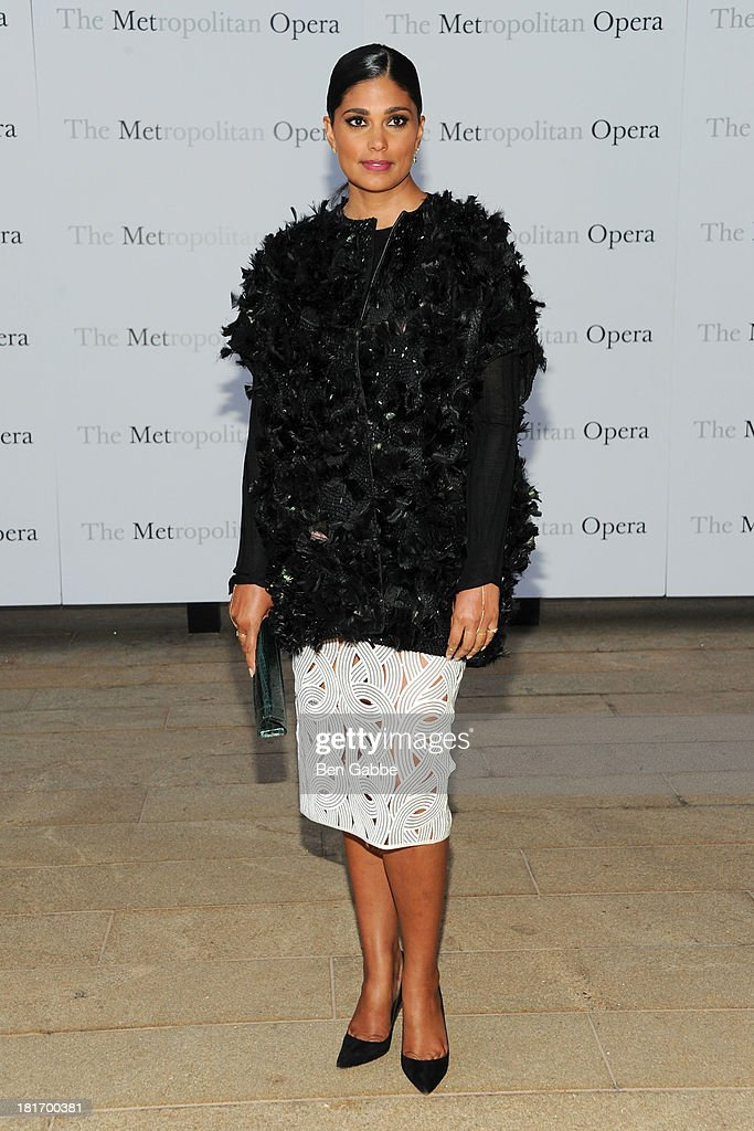 Fashion designer Rachel Roy attends the Metropolitan Opera season opening production of 'Eugene Onegin' at The Metropolitan Opera House on September 23, 2013 in New York City.