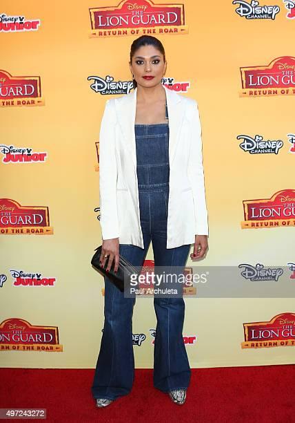 Fashion Designer Rachel Roy attends the premiere of Disney Channel's 'The Lion Guard Return Of The Roar' at Walt Disney Studios on November 14 2015...