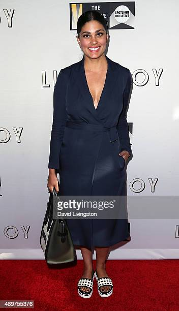 Fashion designer Rachel Roy attends the premiere of Open Road Films' 'Little Boy' at Regal Cinemas LA Live on April 14 2015 in Los Angeles California