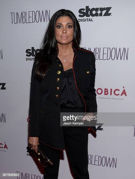 Fashion designer Rachel Roy attends the special screening of 'Tumbledown' hosted by Starz Digital and The Cinema Society at Aero Theatre on February...