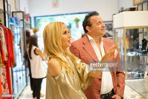 Fashion Designer Rachel Zoe and CEO at What Goes Around Comes Around Seth Weisser attend the Rachel Zoe x What Goes Around Comes Around popin on...