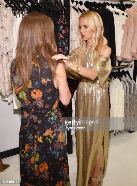 Fashion Designer Rachel Zoe attends the Rachel Zoe x What Goes Around Comes Around popin on August 4 2017 in East Hampton New York