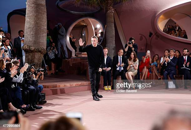 Fashion designer Raf Simons at the Dior Croisiere 2016 at Palais Bulle on May 11 2015 in Theoule sur Mer France