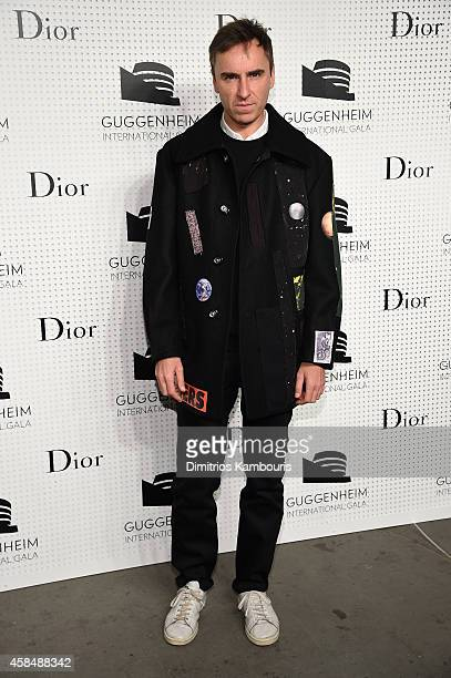 Fashion designer Raf Simons attends the Guggenheim International Gala PreParty made possible by Dior on November 5 2014 in New York City