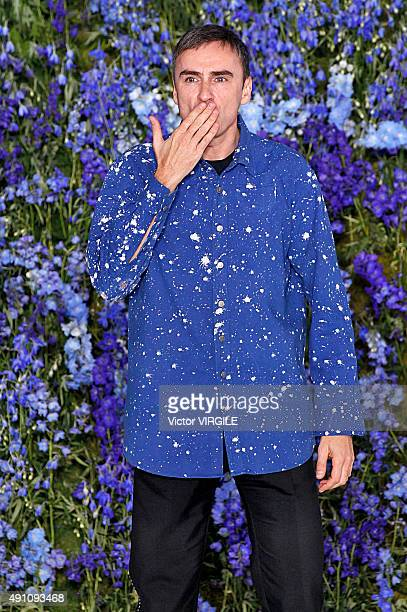 Fashion designer Raf Simons walks the runway during the Christian Dior Ready to Wear show as part of the Paris Fashion Week Womenswear Spring/Summer...