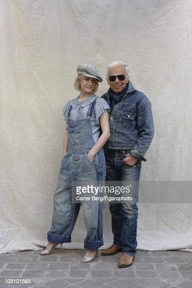 Fashion designer Ralph Lauren and his muse actress Melanie Laurent at a portrait session for Madame Figaro Magazine All clothing by Ralph Lauren...