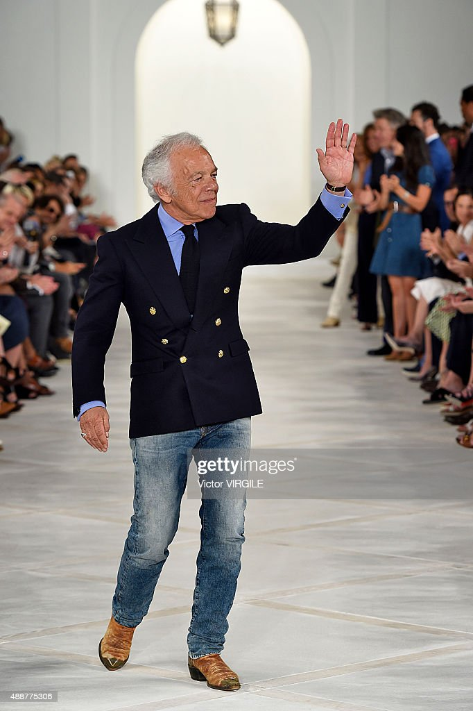 designer ralph lauren jsmb  Fashion designer Ralph Lauren walks the runway at the Ralph Lauren Spring  Summer 2016 fashion show