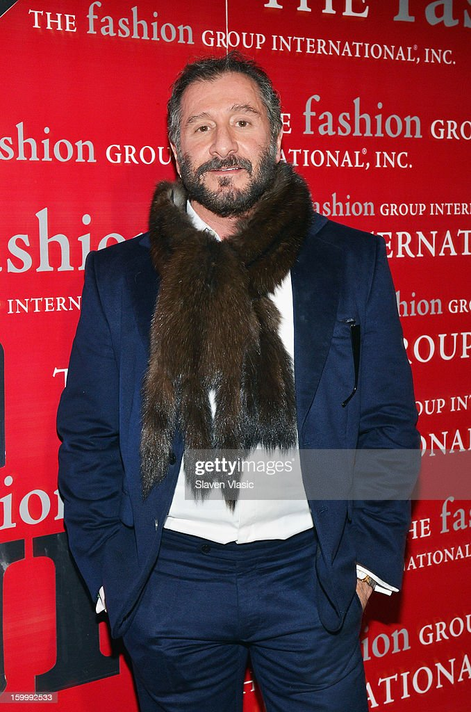 Fashion designer <a gi-track='captionPersonalityLinkClicked' href=/galleries/search?phrase=Ralph+Rucci+-+Fashion+Designer&family=editorial&specificpeople=12460286 ng-click='$event.stopPropagation()'>Ralph Rucci</a> attends the 15th annual Fashion Group International Rising Star at Cipriani 42nd Street on January 24, 2013 in New York City.