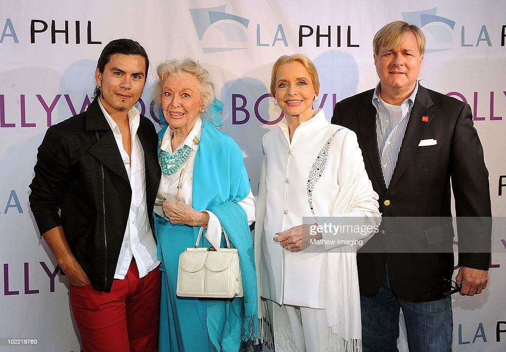 Fashion designer Raymundo Baltazar, actresses Anne Jeffreys, Ann Rutherford, and Jonathan Weedman arrive at the Hollywood Bowl Opening Night Gala held at the Hollywood Bowl on June 19, 2009 in Hollywood, California.