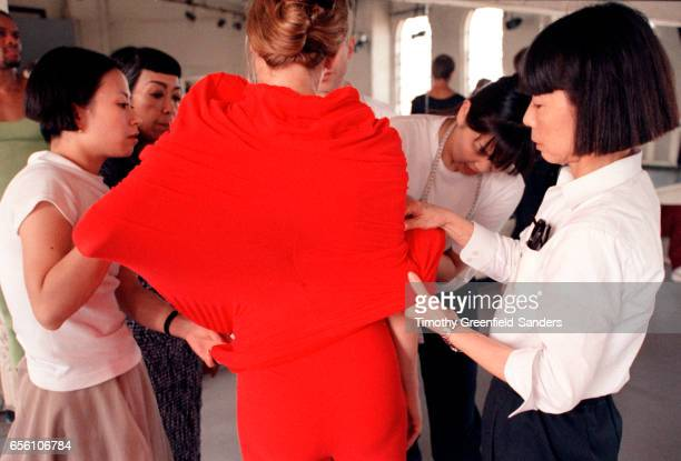 Fashion designer Rei Kawakubo is photographed in New York City 1997