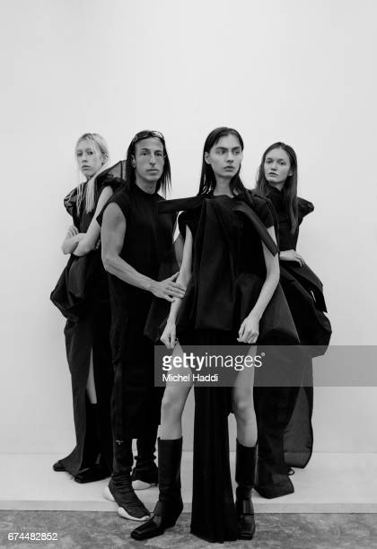 Fashion designer Rick Owens is photographed at his atelier on October 6 2016 in Paris France