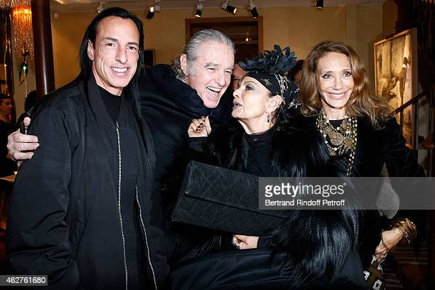 Fashion designer Rick Owens Photographer Patrice Calmettes Michele Lamy and Marisa Berenson attend his Exhibition at Galerie Passebon on February 4...