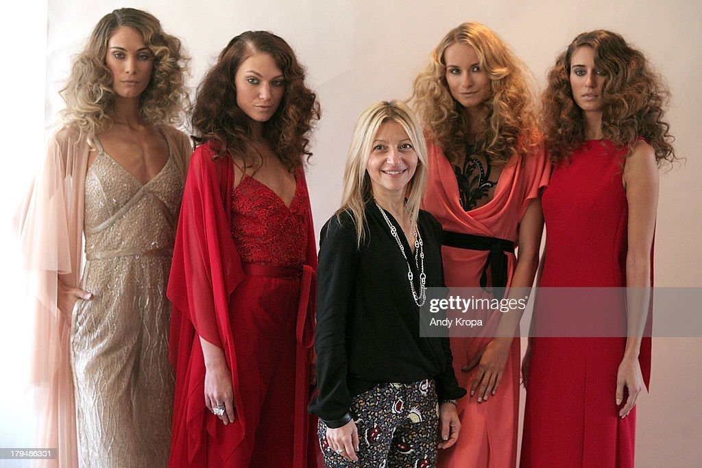 Fashion designer Rita Vinieris attends the Rita Vinieris Debut Collection presentation during Mercedes-Benz Fashion Week Spring 2014 at The London Hotel on September 4, 2013 in New York City.