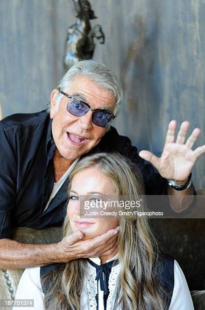 107581035 Fashion designer Roberto Cavalli and wife Eva are photographed for Madame Figaro on September 5 2013 in Florence Italy CREDIT MUST READ...
