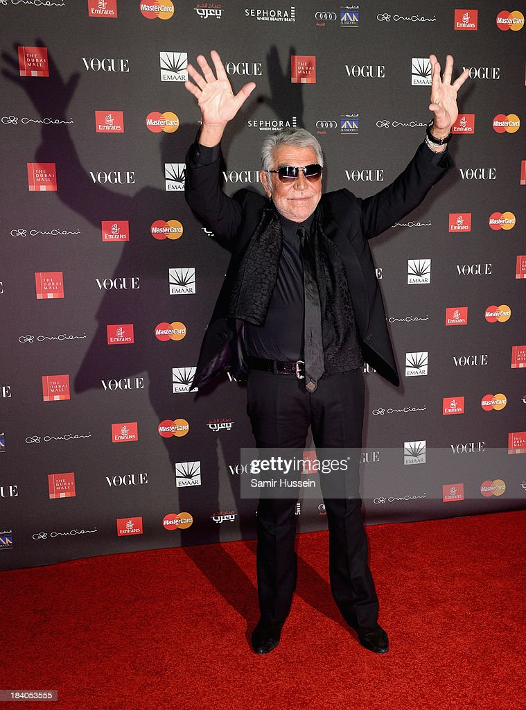 Fashion designer Roberto Cavalli attends the gala dinner at the Armani Pavilion during Vogue Fashion Dubai Experience on October 10, 2013 in Dubai, United Arab Emirates.