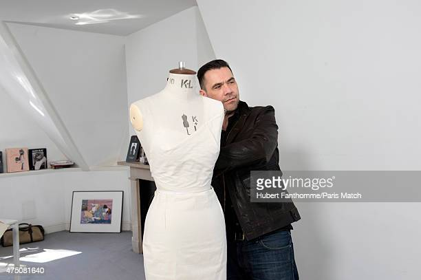 Fashion designer Roland Mouret is photographed at his showroom for Paris Match on May 2 2015 in London England