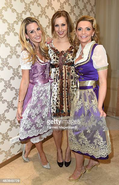 Fashion Designer Sandra Abt Verena Kerth and MarieCatherine Klarkowski attend the 'Relax and Smile' Anniversary Celebration on April 4 2014 in Munich...