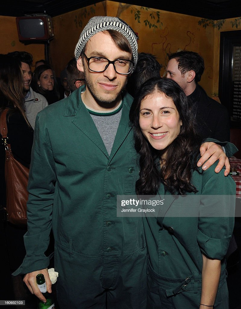 Fashion designer Scott Sternberg and Nicole Cari attend the Band Of Outsiders Fashion Week Mens Collection After Party held at the Monkey Bar on February 7, 2013 in New York City.