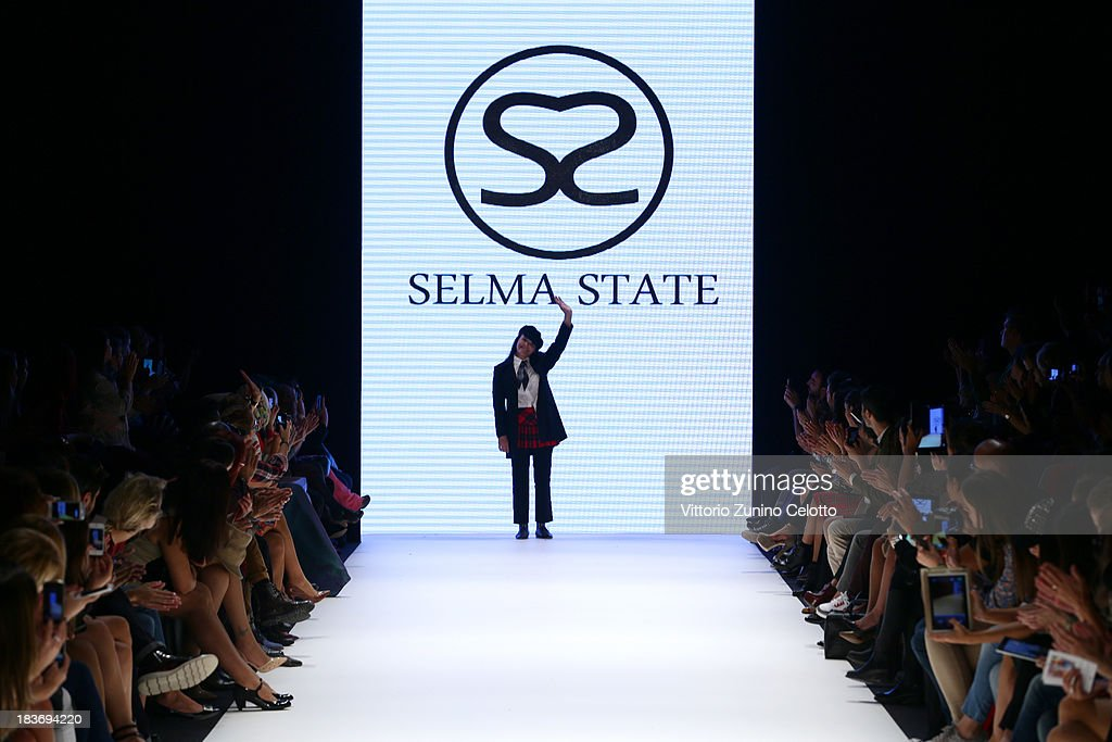 Fashion designer <a gi-track='captionPersonalityLinkClicked' href=/galleries/search?phrase=Selma+State+-+Fashion+Designer&family=editorial&specificpeople=14175209 ng-click='$event.stopPropagation()'>Selma State</a> walks the runway at the <a gi-track='captionPersonalityLinkClicked' href=/galleries/search?phrase=Selma+State+-+Fashion+Designer&family=editorial&specificpeople=14175209 ng-click='$event.stopPropagation()'>Selma State</a> show during Mercedes-Benz Fashion Week Istanbul s/s 2014 presented by American Express on October 9, 2013 in Istanbul, Turkey.