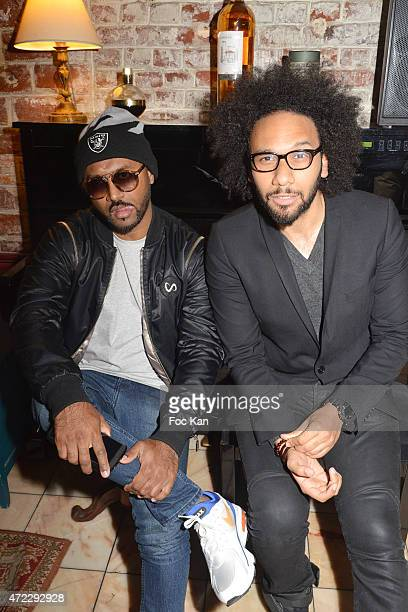 05 Fashion designer Shamim Germeii and Yassine Azzouz attend the 'Guru' Screening Party at Commune Image Studio on May 5 2015 in Saint Ouen France
