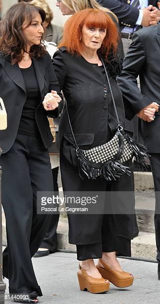 Fashion Designer Sonia Rykiel attends Yves Saint Laurent's Funeral Service on June 5 2008 at Eglise SaintRoch in Paris France The designer Yves Saint...