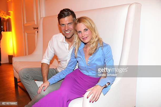 Fashion designer Sonja Kiefer and her boyfriend Cedric Schwarz during the birthday party for the 10th anniversary of ICON at Nymphenburg Palais No 6...