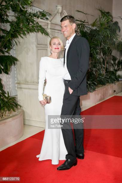 Fashion Designer Sonja Kiefer and her partner Cedric Schwarz attend the Felix Burda Award 2017 at Hotel Adlon on May 14 2017 in Berlin Germany
