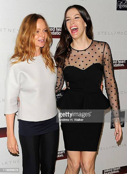 Fashion designer Stella McCartney and actress Liv Tyler attend a cocktail reception celebrating the launch of the new Stella McCartney boutique at...