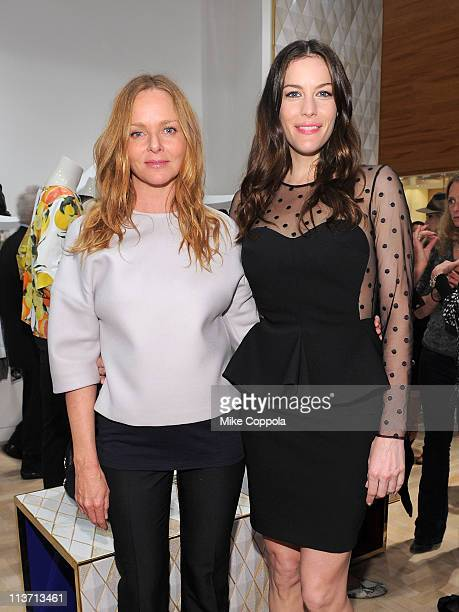 Fashion designer Stella McCartney and actress Liv Tyler attend the launch of the new Stella McCartney boutique at Saks Fifth Avenue on May 4 2011 in...