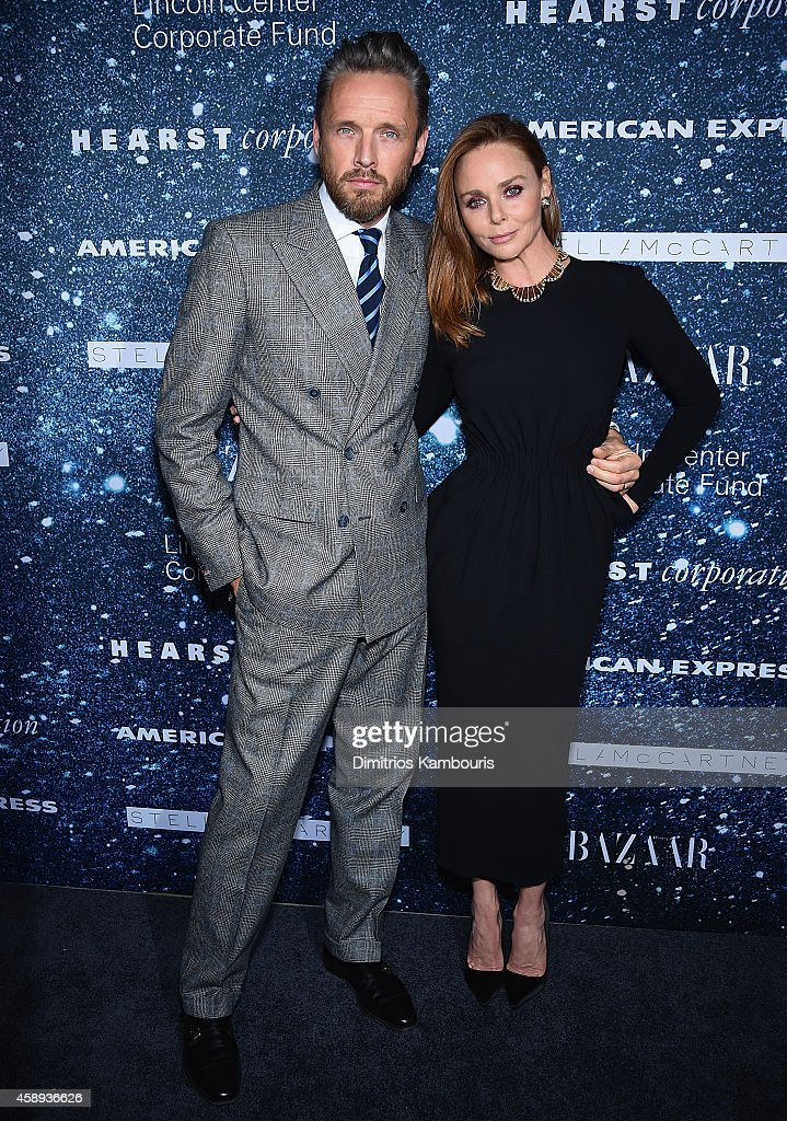 Fashion designer Stella McCartney (R) and Alasdhair Willis attend 2014 Women's Leadership Award Honoring Stella McCartney at Alice Tully Hall at Lincoln Center on November 13, 2014 in New York City.