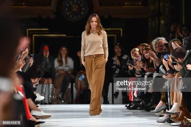Fashion designer Stella McCartney is seen on the runway during the Stella McCartney show as part of the Paris Fashion Week Womenswear Spring/Summer...