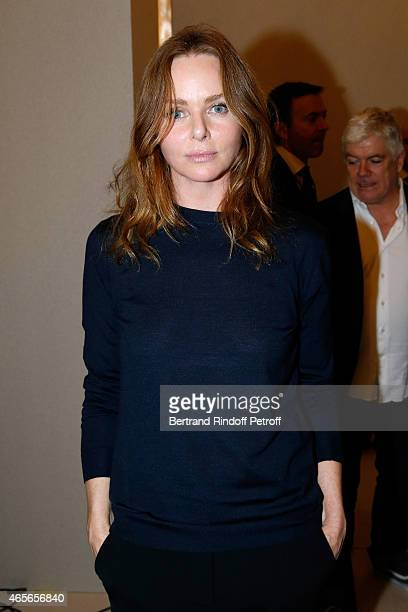 Fashion Designer Stella McCartney poses Backstage after the Stella McCartney show as part of the Paris Fashion Week Womenswear Fall/Winter 2015/2016...