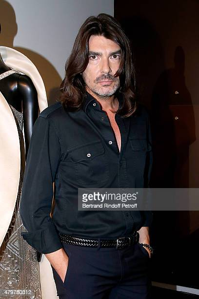 Fashion designer Stephane Rolland attends his show as part of Paris Fashion Week Haute Couture Fall/Winter 2015/2016 on July 7 2015 in Paris France