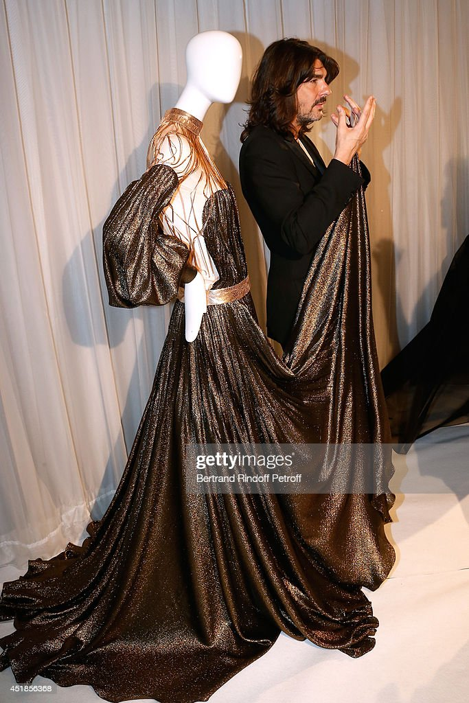 Fashion designer Stephane Rolland attends the Stephane Rolland show as part of Paris Fashion Week Haute Couture Fall/Winter 20142015 Held at Cinema...