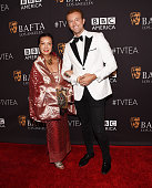Fashion designer Sue Wong and TV presenter Prince MarioMax SchaumburgLippe arrive at the BAFTA Los Angeles TV Tea 2015 at the SLS Hotel on September...