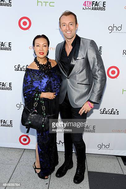 Fashion designer Sue Wong and TV presenter Prince MarioMax SchaumburgLippe attend the 4th Annual NYX FACE Awards at Club Nokia on August 22 2015 in...