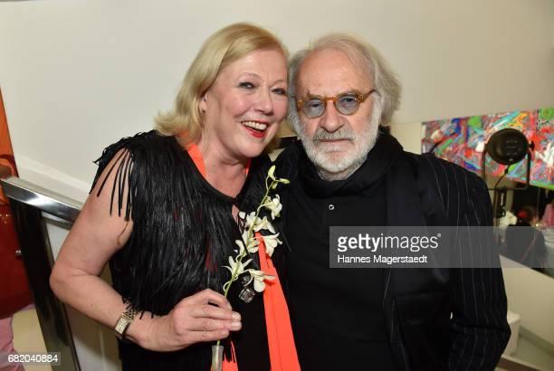 Fashion designer Susanne Wiebe and Fred Sillkraut during 'Maximilian Seitz EinwicklungenImpressionismusFest im Orient' Exhibition Opening at Susanne...