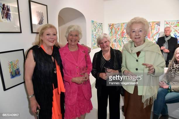 Fashion designer Susanne Wiebe Edla Burol Baronin Gabriele von Crailsheim and Friedgard Halter during 'Maximilian Seitz...
