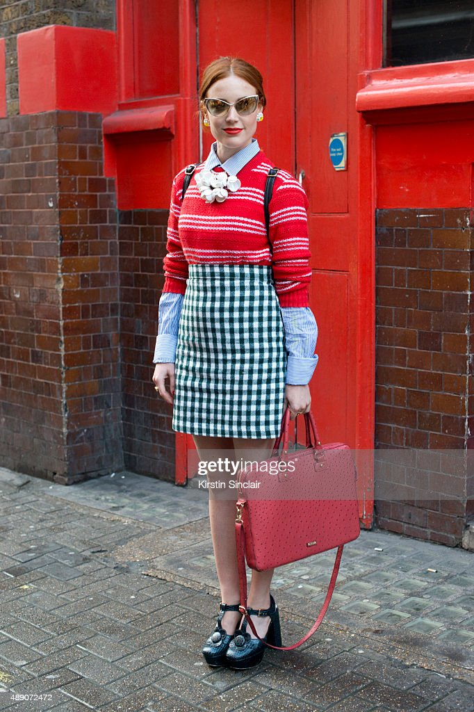 Fashion Designer Tara Scott wears Tom Ford sunglasses an Aldo bag vintage sunglasses Marni for H and M sweater Jack Wills shirt Tara Starlet skirt...