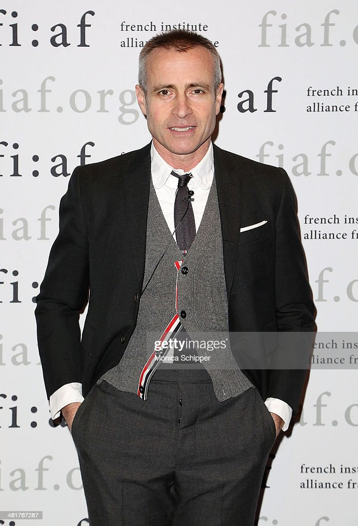Fashion designer Thom Browne attends Fashion at FIAF Presents An Evening With Thom Browne And Robin Givhan at FIAF on March 31 2014 in New York City