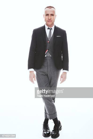 Fashion designer Thom Browne is photographed for Esquire Magazine The Big Black Book on January 22 2014 in New York City