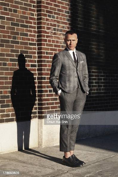 Fashion designer Thom Browne is photographed for GQ Taiwan on December 8 2011 in New York City