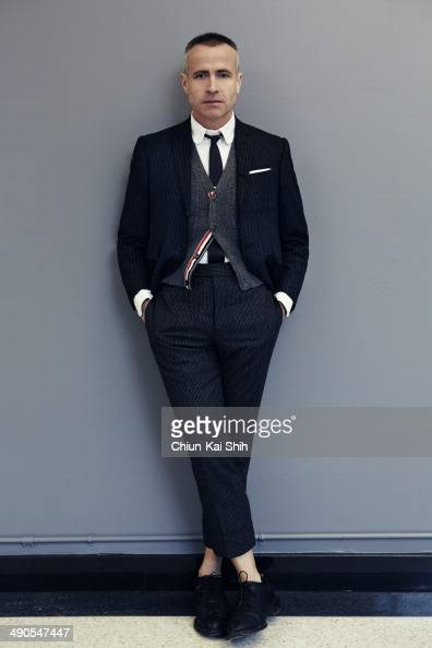 Fashion designer Thom Browne is photographed for Jessica Magazine on February 20 2014 in New York City PUBLISHED IMAGE